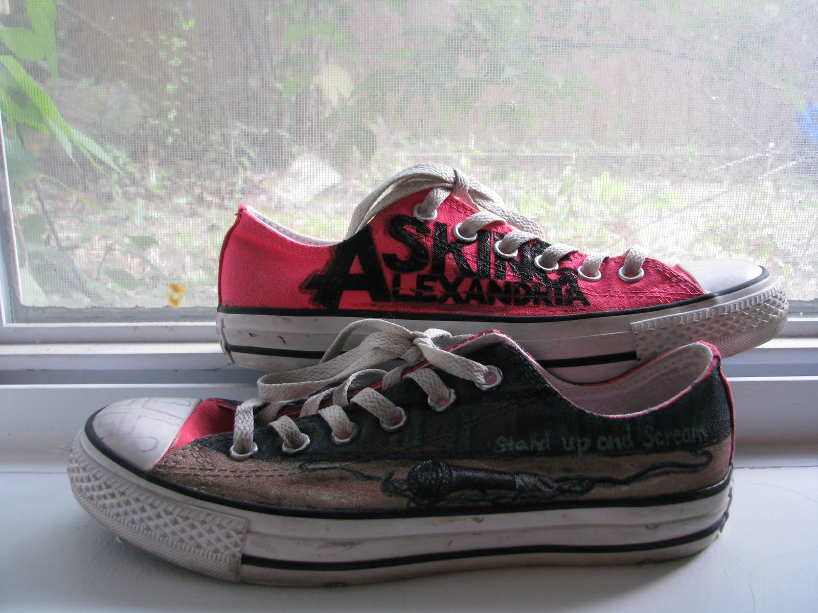 4754058f6876ca Get Your Kicks On Handpainted Shoes  Asking Alexandria