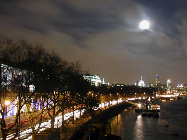 Moon over London