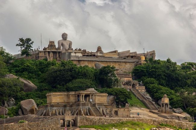 Hill View Of Sri Gommateshwara Temple