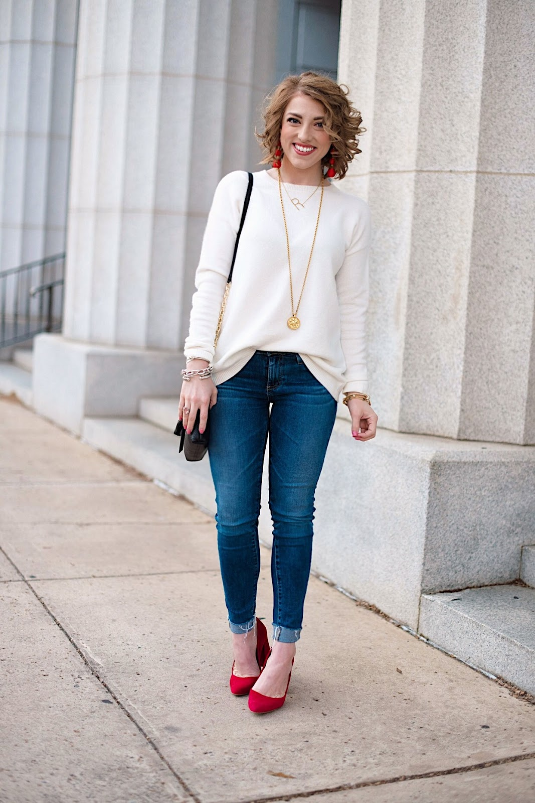 Casual Valentines Day Look - Click through for more on Something Delightful Blog