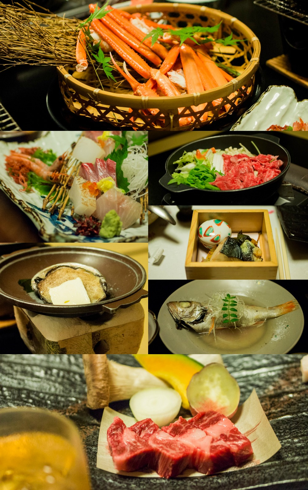 Dinner in Yuraku Kinosaki Spa & Garden - Hot Springs of a Lifetime in Kinosaki Onsen (Japan Travel)
