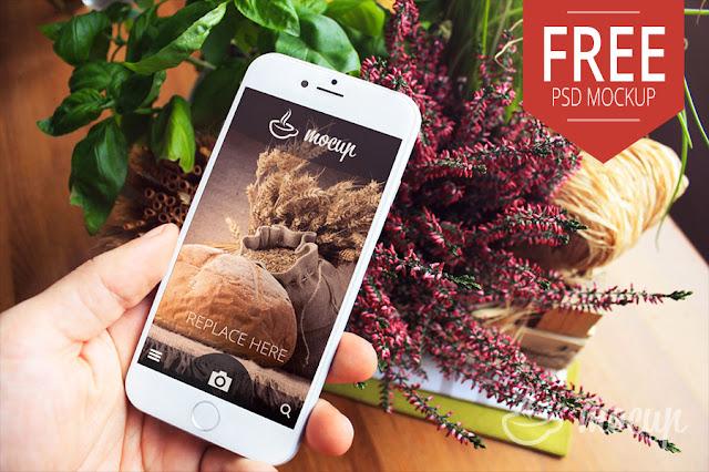 Free PSD iPhone 6 Mockup