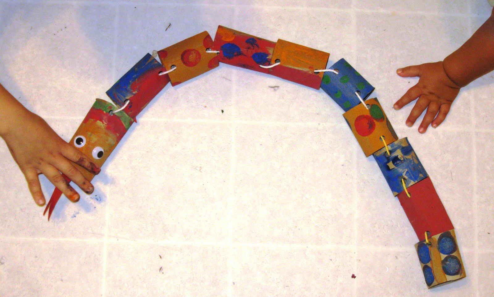 Paper Tube Snake Creative Learning