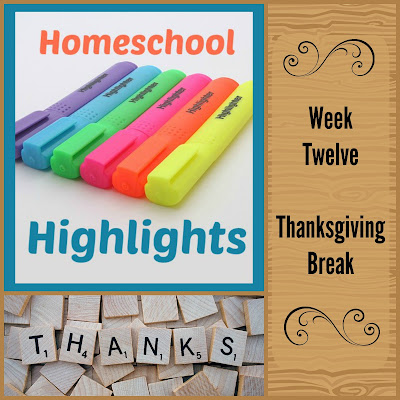 Homeschool Highlights - Week Twelve: Thanksgiving Break on Homeschool Coffee Break @ kympossibleblog.blogspot.com