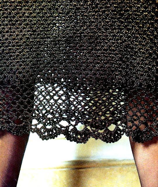 Falda basica con brillo