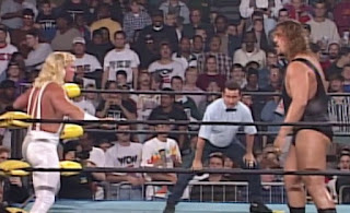 WCW WORLD WAR 3 1996 - Jeff Jarrett faced The Giant