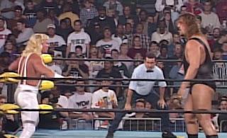 WCW WORLD WAR 3 1996 - Jeff Jarrett faced The Giant