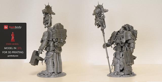 Chaplain Warhammer40k 3D model