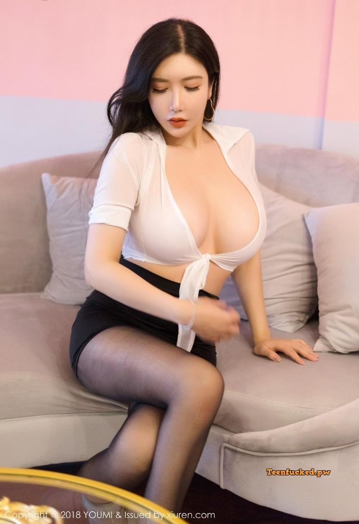 YouMi Vol.222 MrCong.com 020 wm - YouMi Vol.222: Người mẫu 心妍小公主 (45 ảnh)