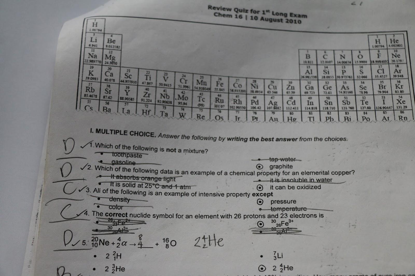 Chem 17 Third Exam Reviewer