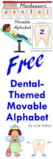 FREE Montesorri-Inspired Teeth-Themed Movable Alphabet