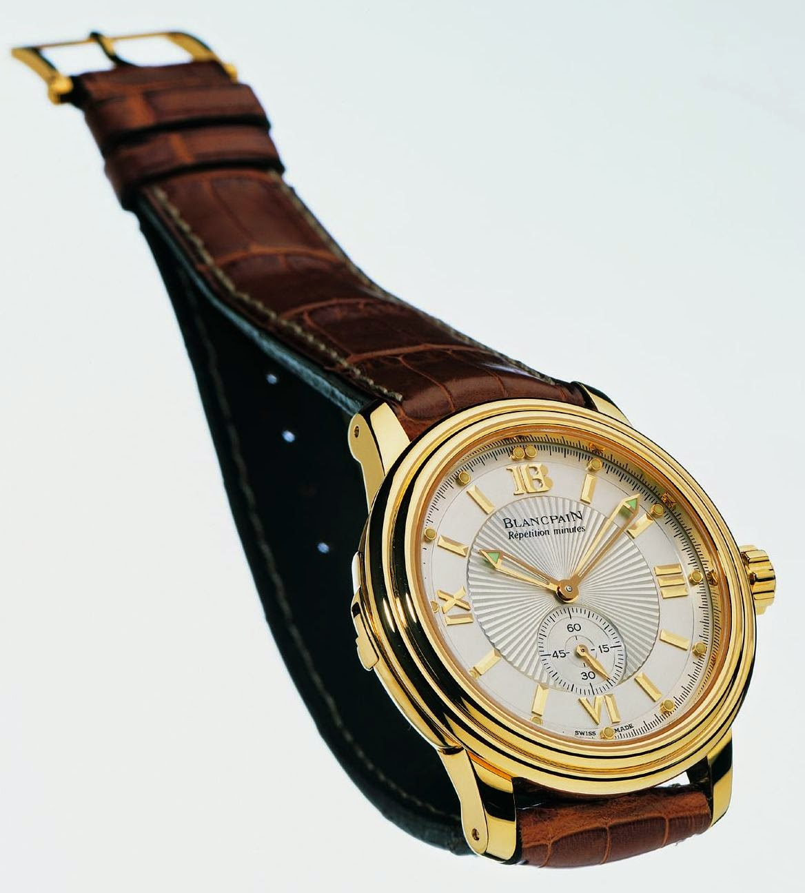 BLANCPAIN Répétition Minutes Étanche 2135 Yellow Gold -  The First Minute Repeater Wristwatch with Water Resistant to 30 Meters