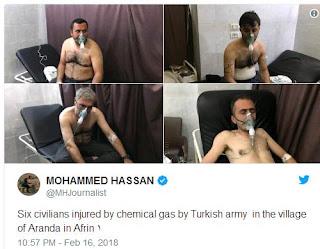 τουρκική επίθεση με δηλητηριώδες αέριο