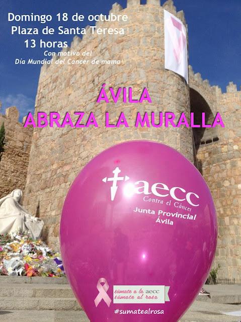 AECC, L de Lana, Muralla de Avila, Día Internacional contra el Cancer de Mama