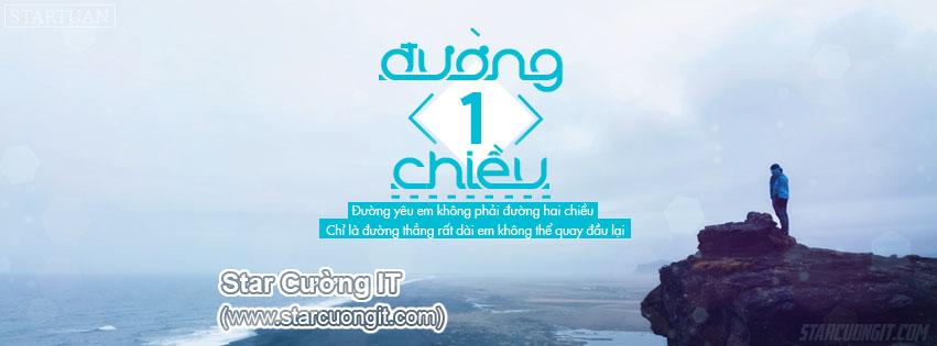 Share PSD Ảnh Bìa Facebook 'Đường Một Chiều'