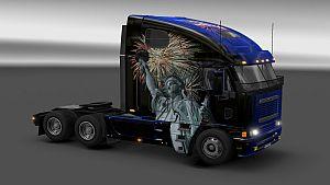 4th of July Skin for Freightliner Argosy