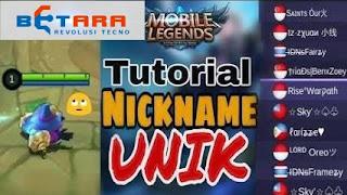 Cara Membuat Nama Mobile Legend yang Keren dan Unik