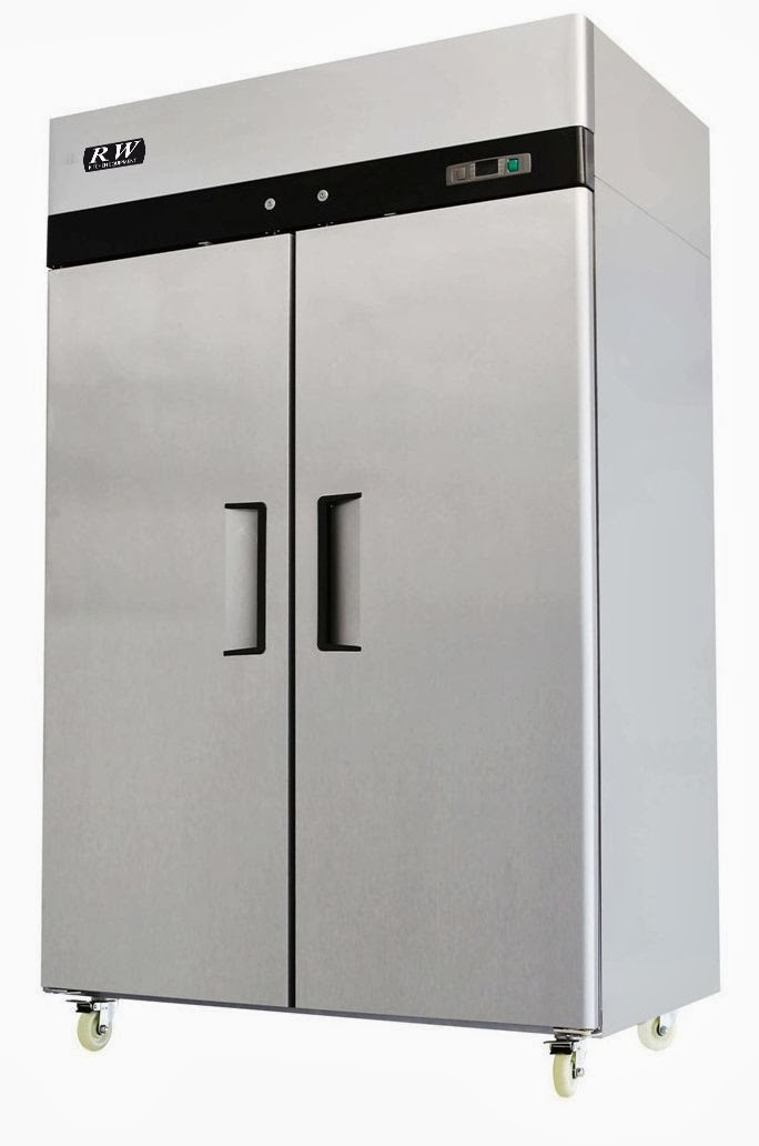 RW Kitchen 2 Door Freezerless Refrigerator Stainless Steel