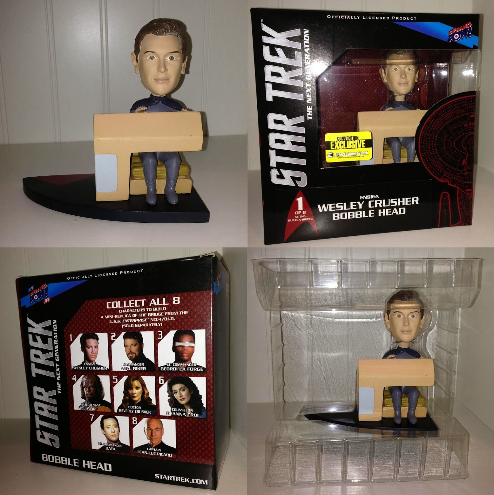 Toy Review: San Diego Comic-Con 2013 Exclusive Star Trek: The Next Generation Wesley Crusher Build-a-Bridge Bobble Head by Bif Bang Pow! & Entertainment Earth
