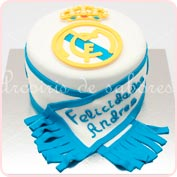 Tarta fondant Real Madrid