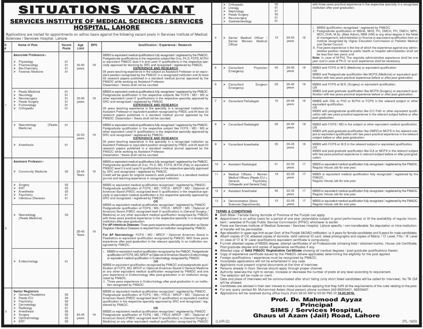 160+ Jobs In Services  Institute of medical sciences apply Now