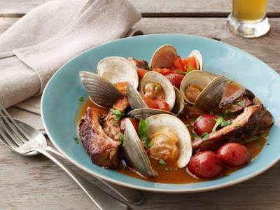 http://www.foodnetwork.com/recipes/food-network-kitchens/beer-braised-ribs-with-clams-recipe.html