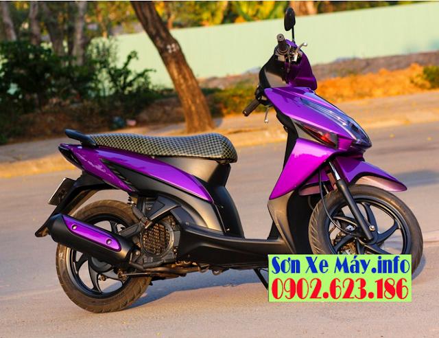 Sơn xe Honda Click màu tím mộng mơ