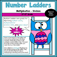 Number Ladders using Multiplication and Division