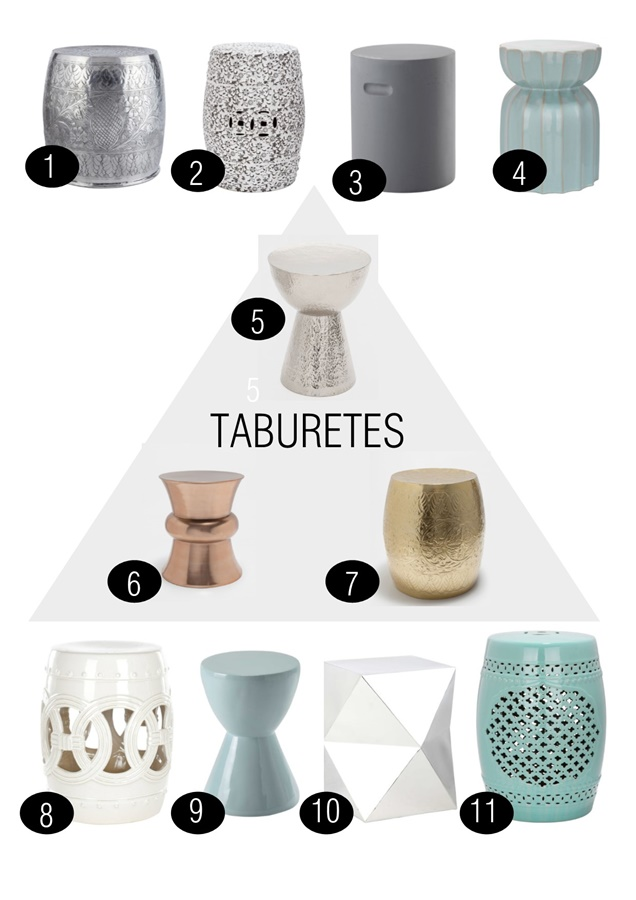 Tendencias decoración: taburetes whislist