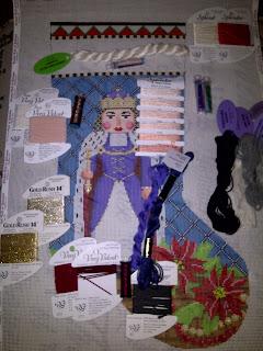 Susan Roberts needlepoint nutcracker stocking