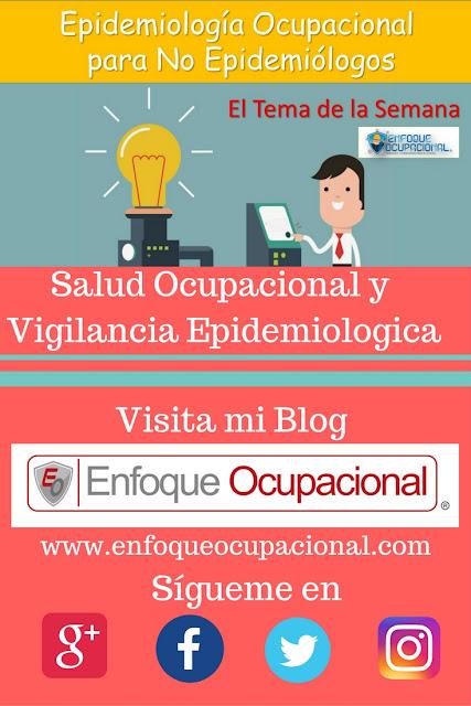 Salud Ocupacional, Vigilancia Epidemiológica,ocupaciona. epidemiologia