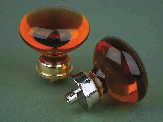 amber glass knobs