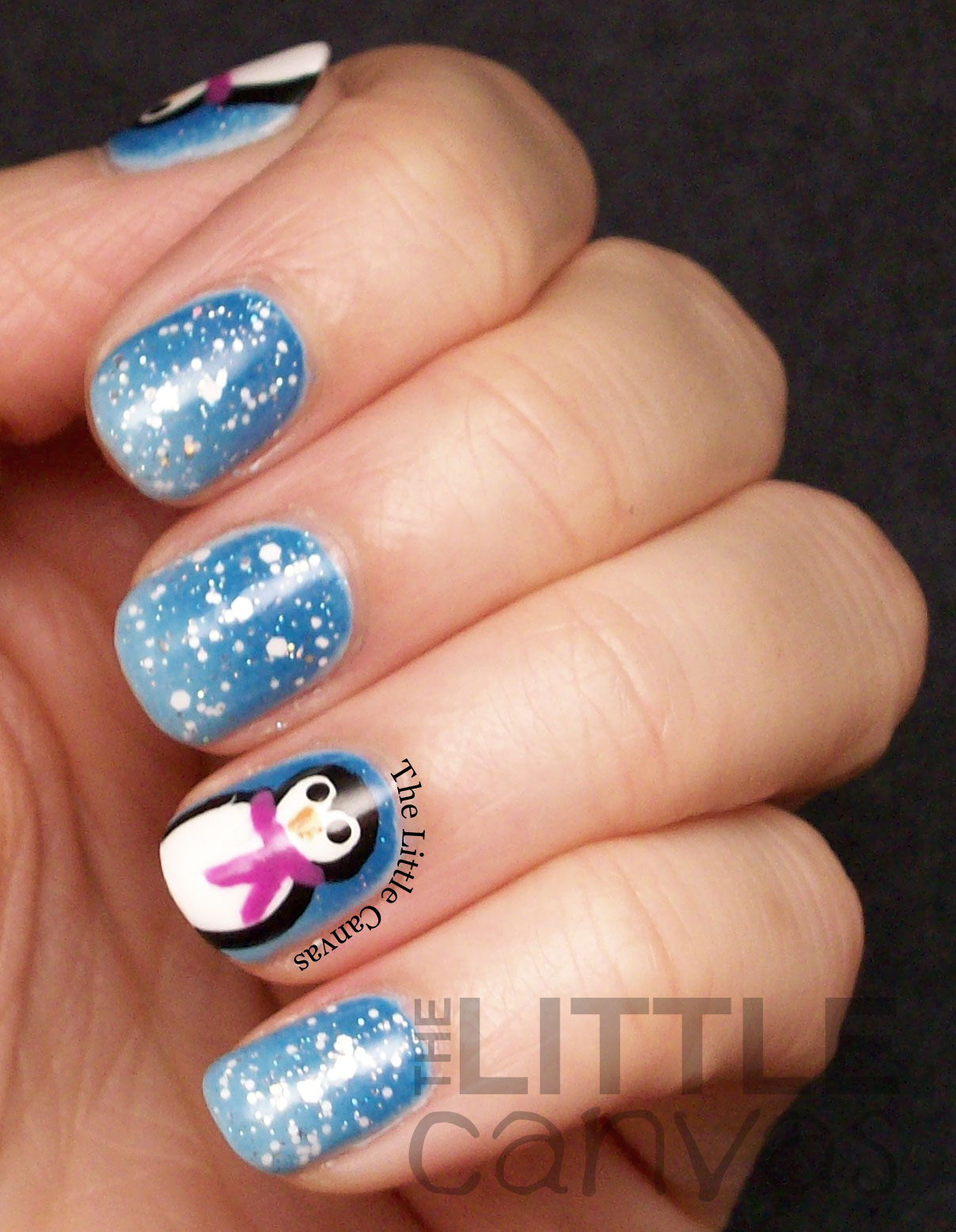 The First Snowy Manicure of the Season - Penguin Nails ...