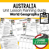 Australia geography lesson plans, world geography lesson plans, geography activities, world geography games, world geography middle school, world geography high school