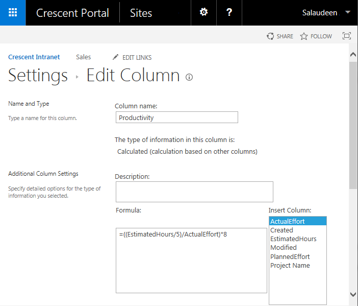 PowerShell to Update Calculated Column Formula in SharePoint