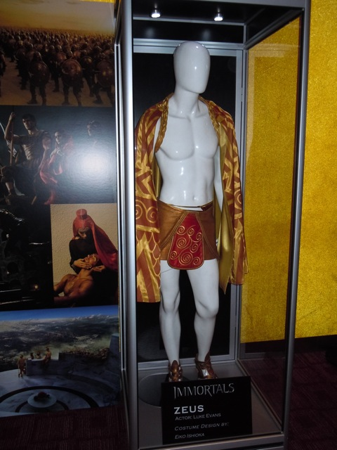 Luke Evans Immortals  Zeus costume