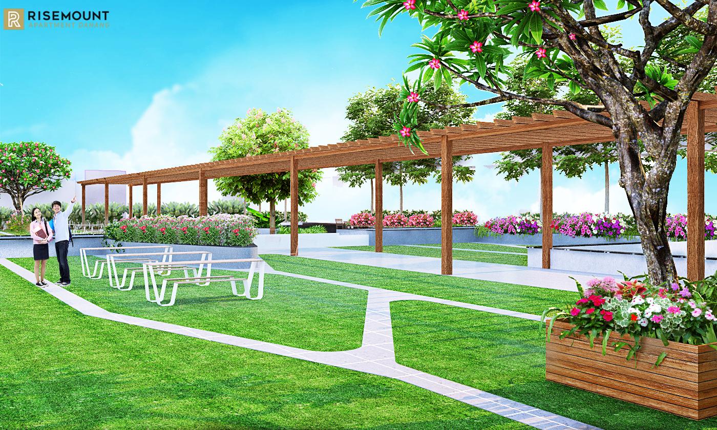 Công viên Sakura dự án Risemount Đà Nẵng