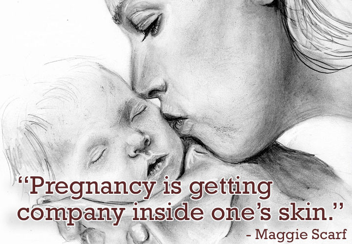 Maggie-Scarf Pregnancy Quotes