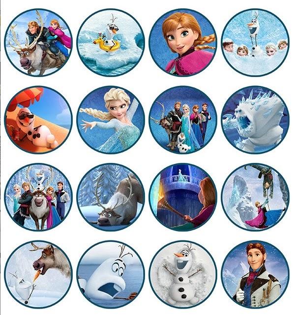 Frozen toppers para imprimir gratis ideas y material for Pegatinas pared infantiles baratas