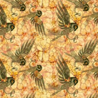 "Fabric design ""spirit of the desert"" by Mimi Pinto"