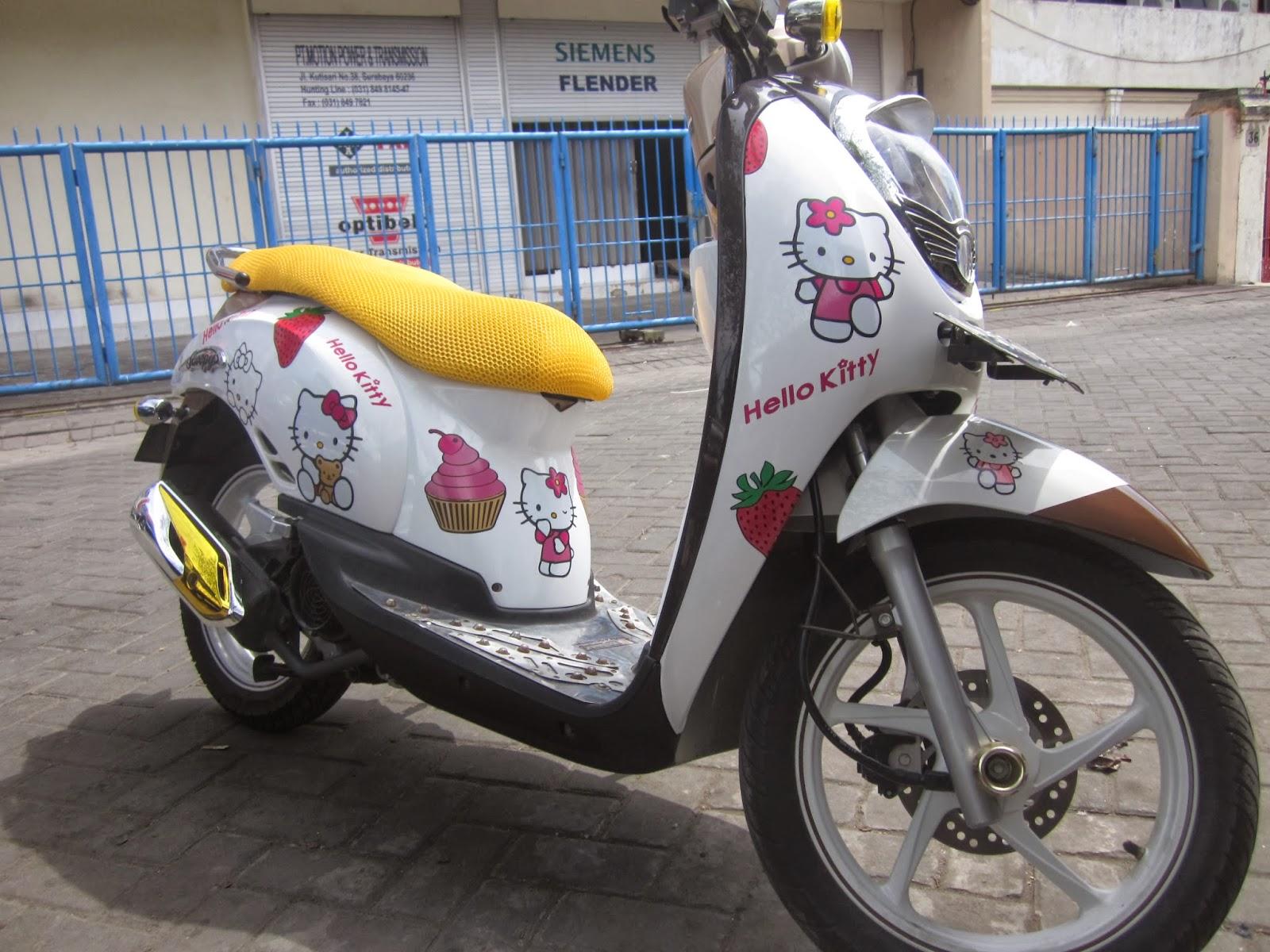Cutting Sticker Scoopy Indonesia Nangguk Velg Merah New K93 871x0k93a00red 89 Modifikasi Stiker