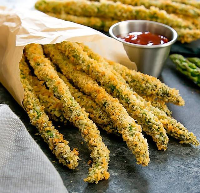 Baked Asparagus Fries #sidedish #vegan