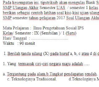 soal-ujian-ulangan-UAS-IPS-Kelas-9-IX-SMP-semester-1