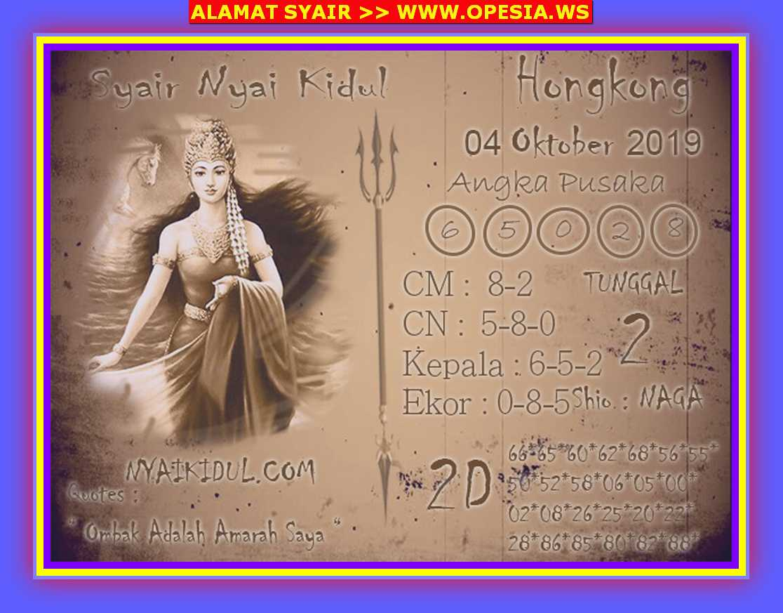 Kode syair Hongkong Jumat 4 Oktober 2019 94
