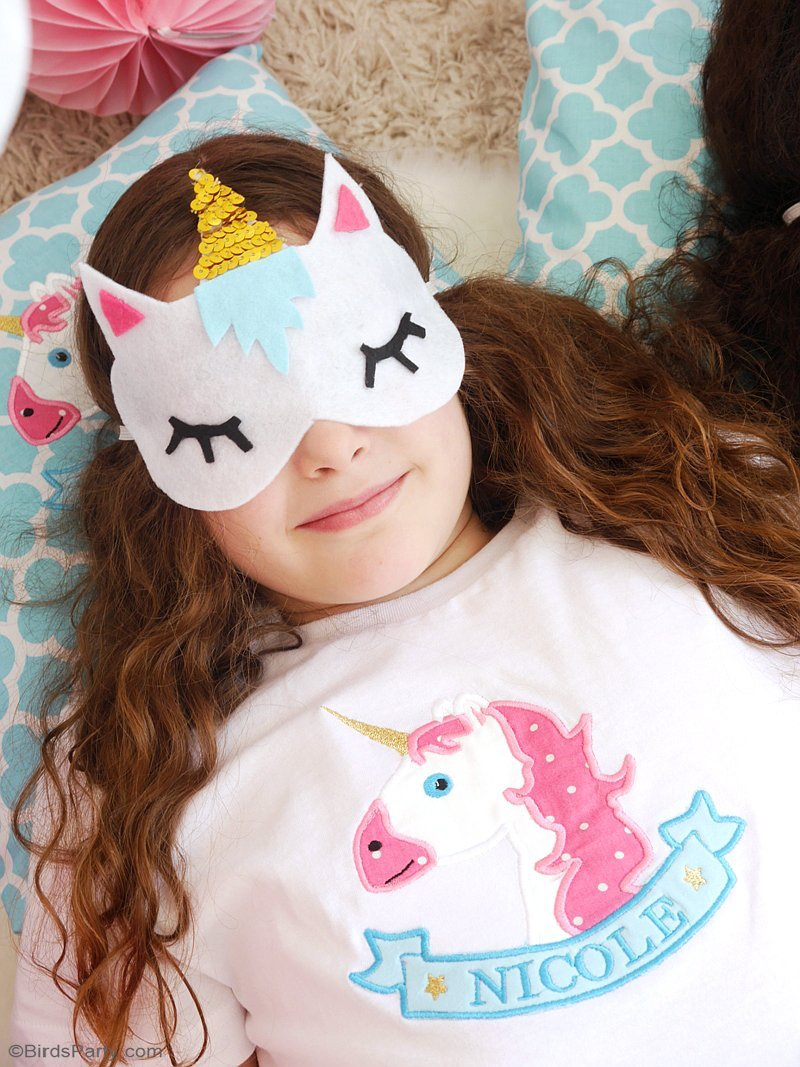 No-Sew DIY Unicorn Sleeping Masks with Free Template - Party