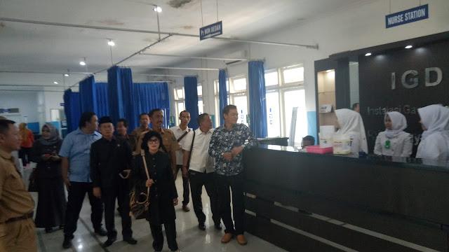 Agar Berimbang, DPRD OKI Sidak di RSUD Kayuagung