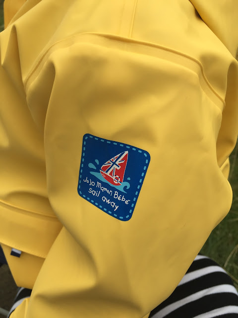 Sail Away logo on Jojo Maman Bebe Jacket
