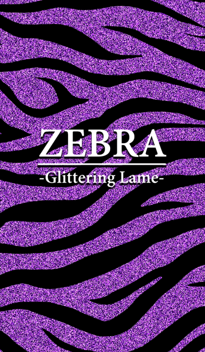 Lame zebra pattern purple color