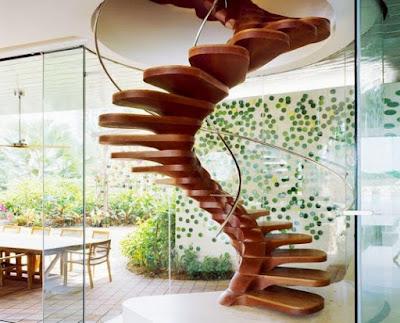 Tangga Rumah Model Spiral - Berputar