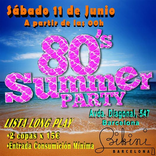 Flyer 80s Summer Party